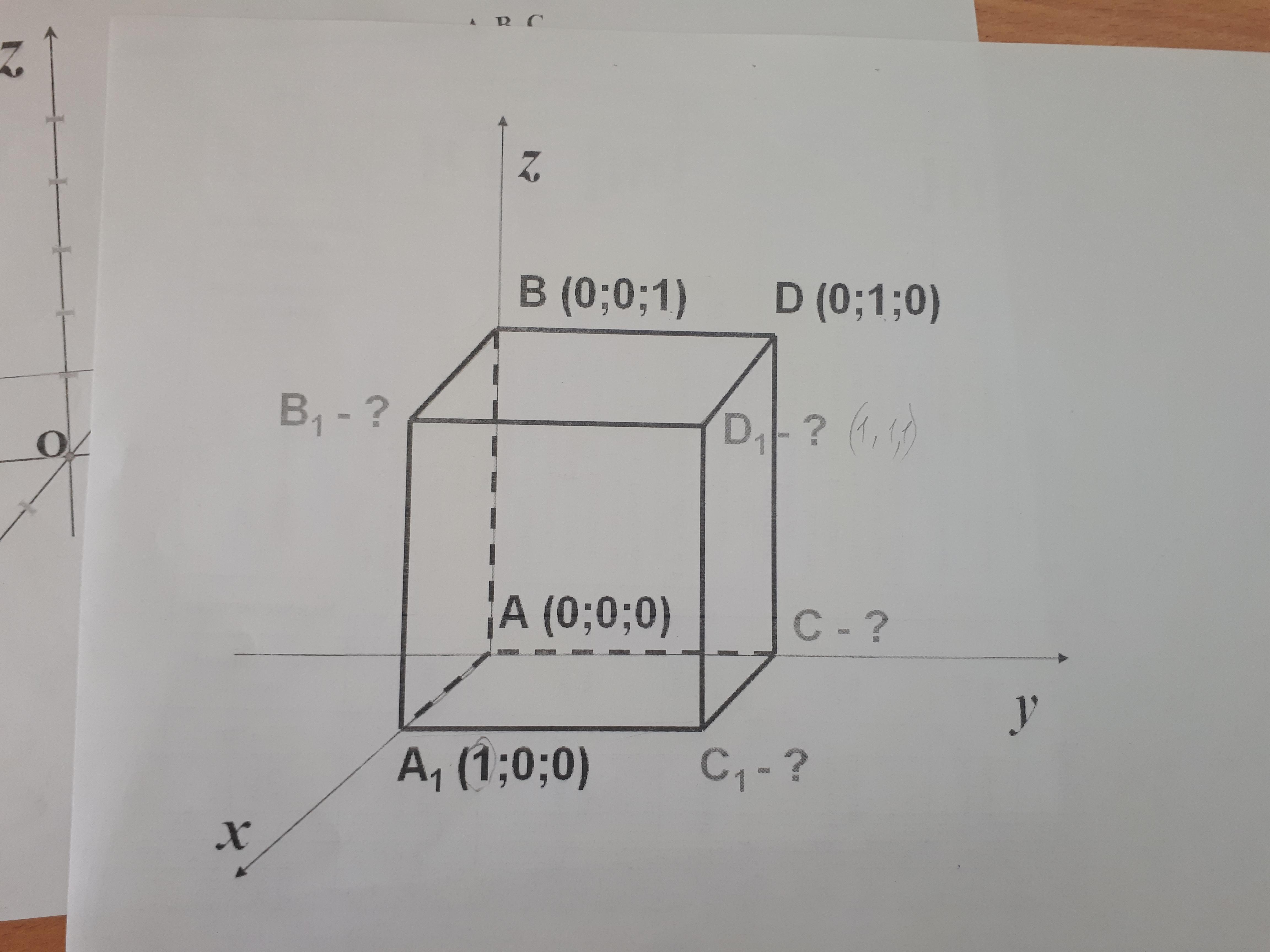 Найдите координаты точек пожалуйста, нарисуйте