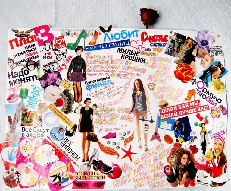 Коллаж из вырезок из журналов своими руками