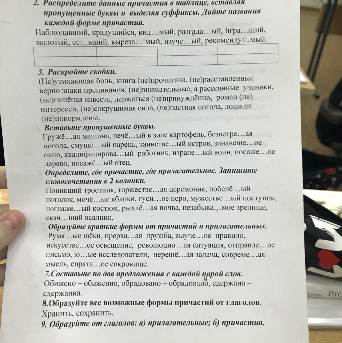 Помогите пожалуйста очень срочно класс русский язык  Помогите пожалуйста очень срочно 7 класс русский язык контрольная работа по теме Причастие