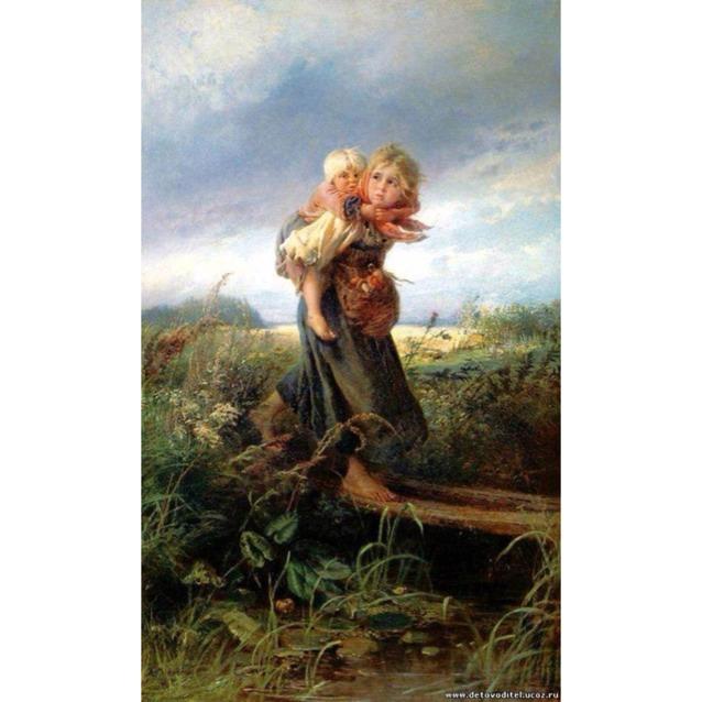 Дети бегущие от грозы картина