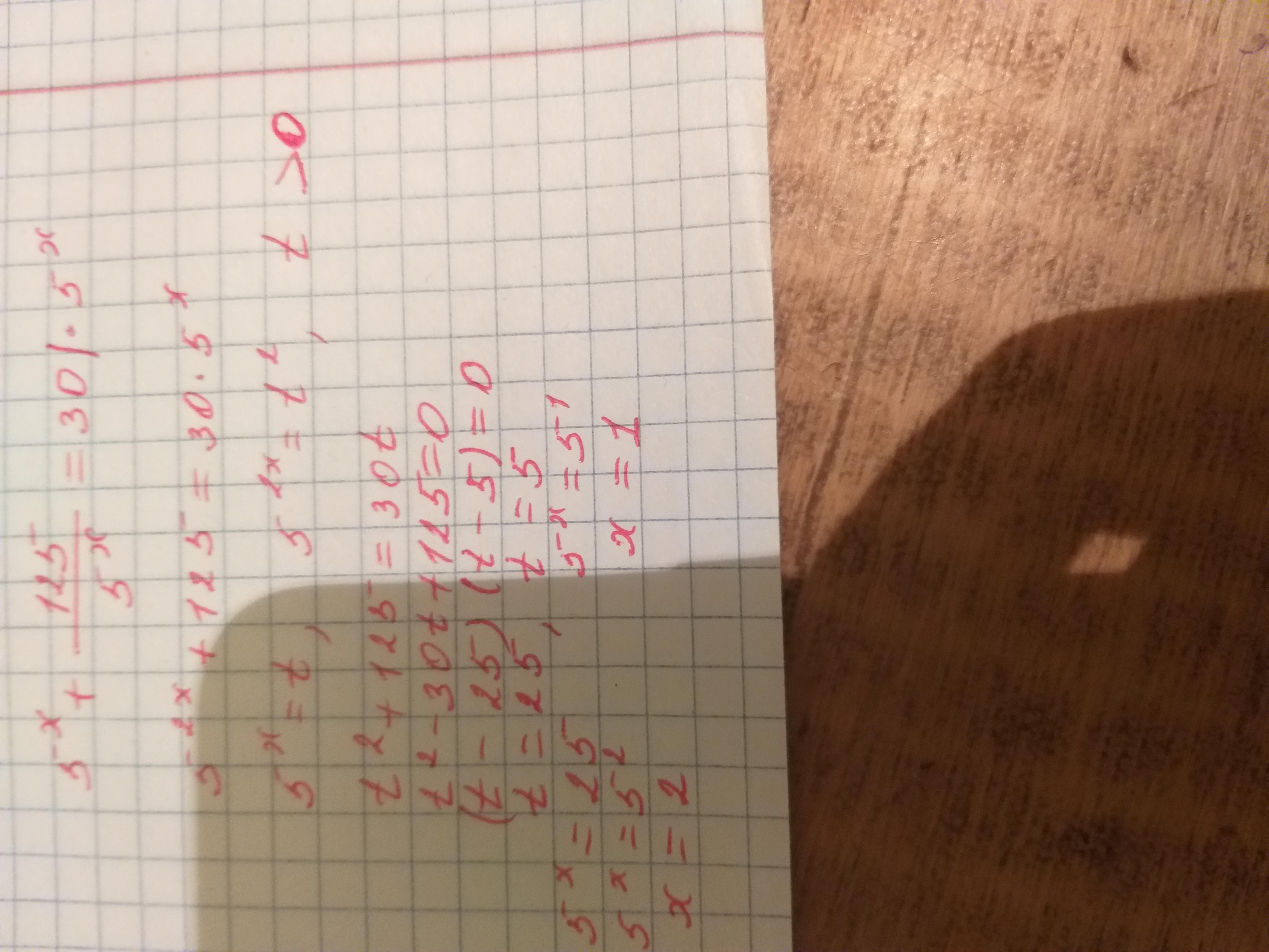 Уравнение : 5^x + 125/5^x = 30