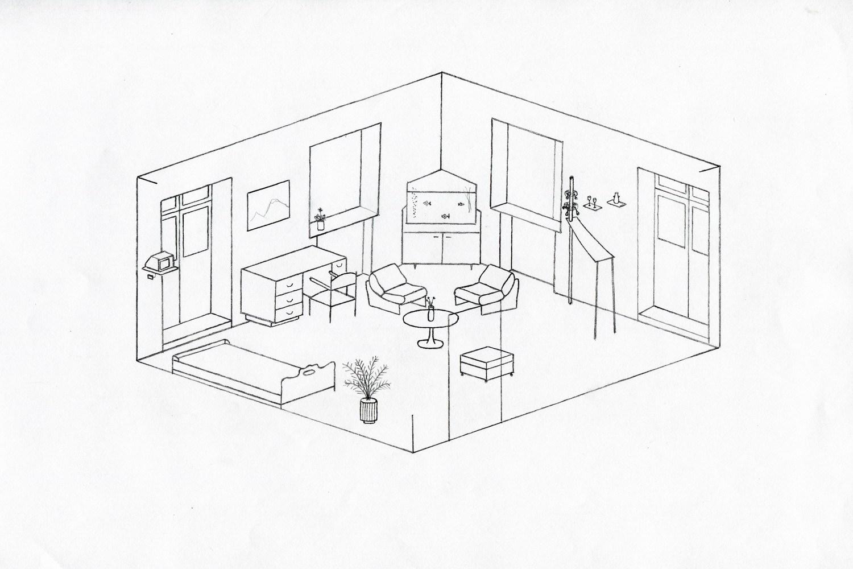 картинка чертеж комнаты