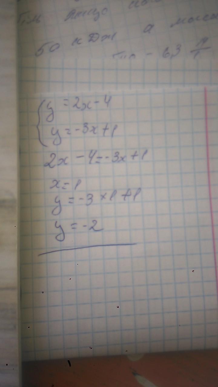 Вычислить координаты точек пересечения прямых