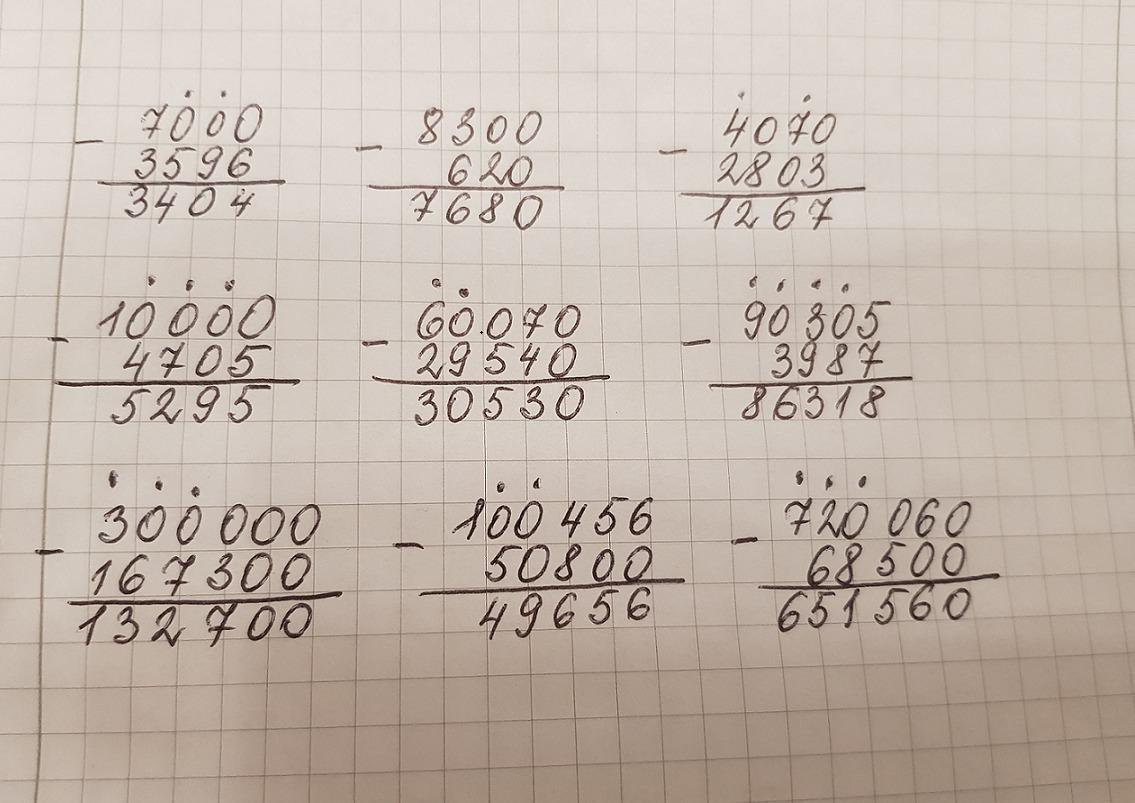 Запиши вычисления в столбик