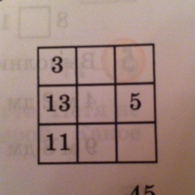 Математика 2 класс петерсон магические квадраты