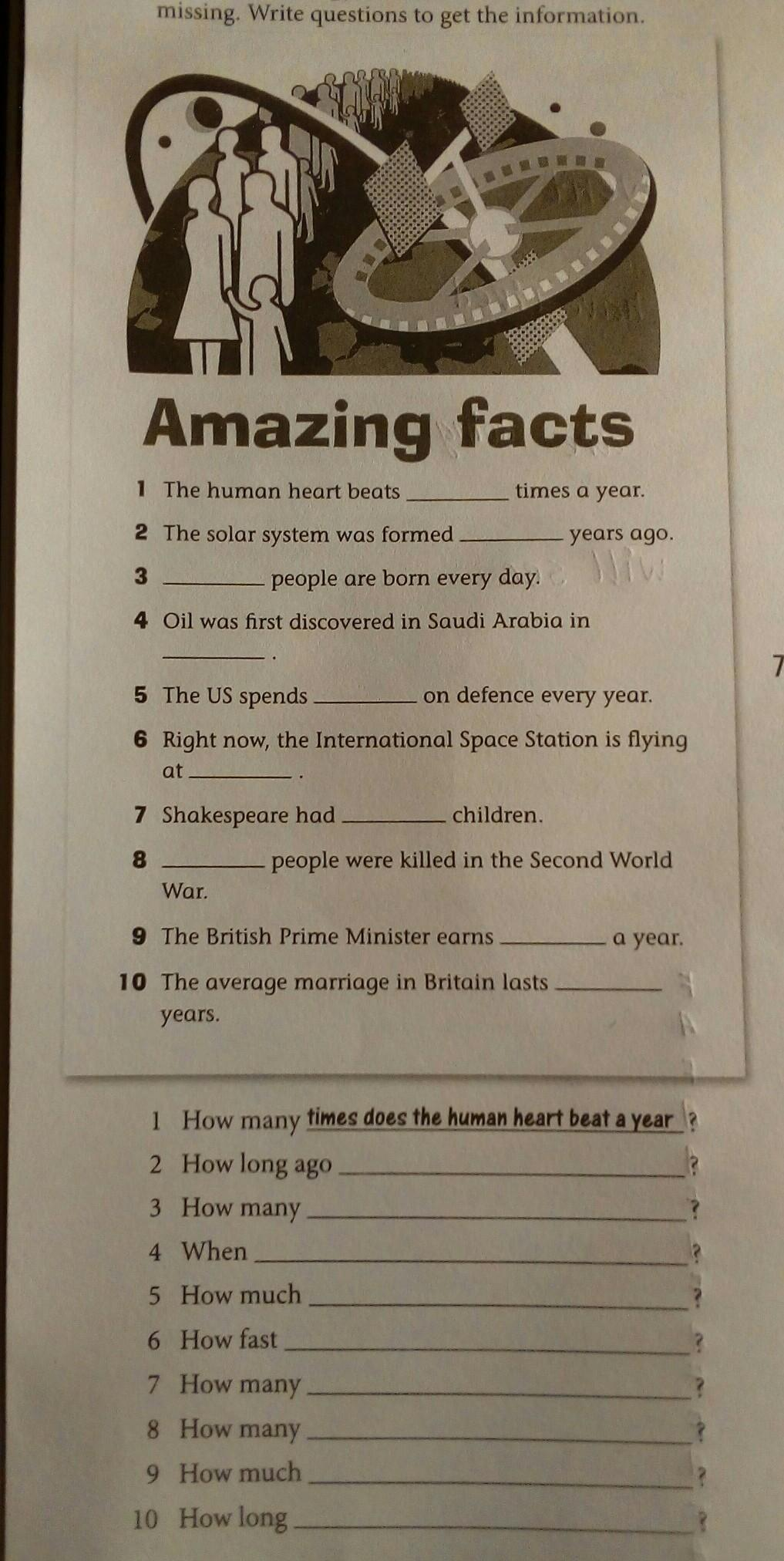 Read the amazing facts. Some information is