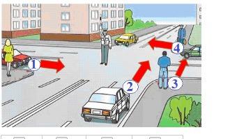 Изображение к вопросу Ребята! Выручайте :) Рассмотрите картинку. Отметьте номера участников дорожного движения, движение которым запрещено. Загрузить png