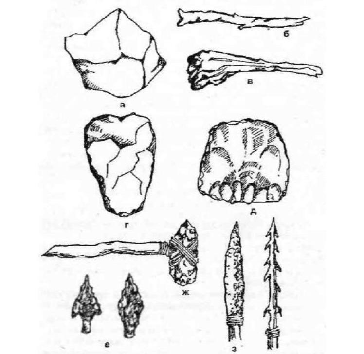 Орудия труда древнейших людей картинки