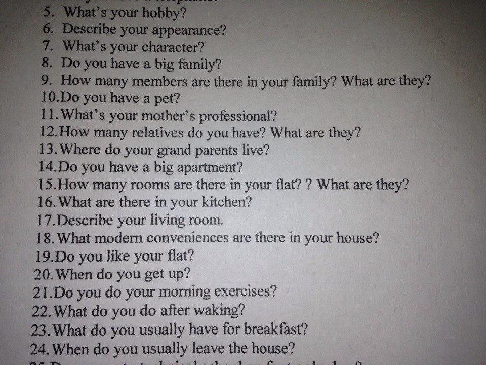 Describe Your Hobbies