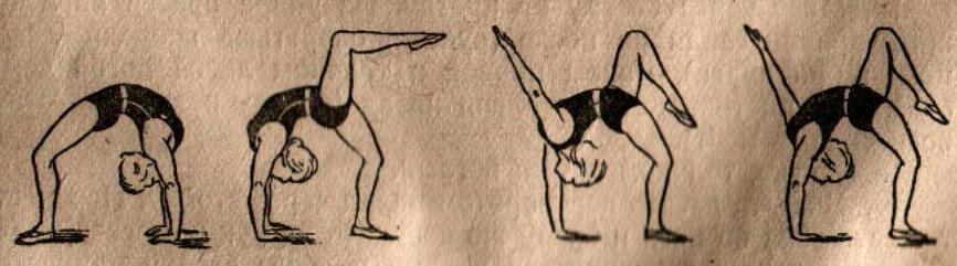 как встать на мостик пошаговые упражнения картинки фотки