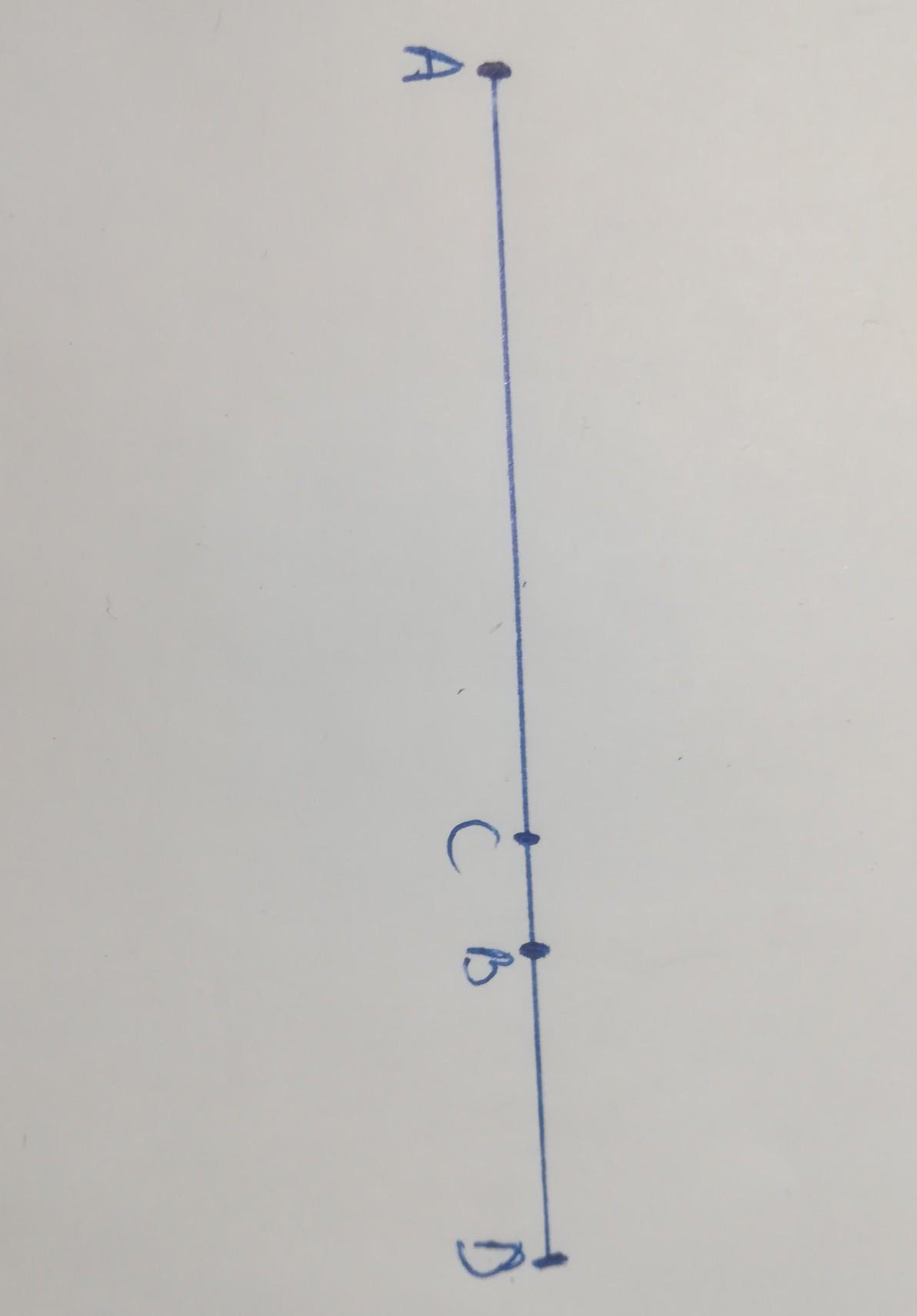 Помогите решить. AB=8см, CD=3см. Найти CB