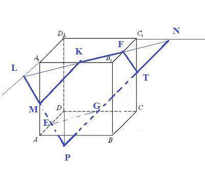 Дан куб A1B1C1D1ABCD, с ребром равным 1 метр. На