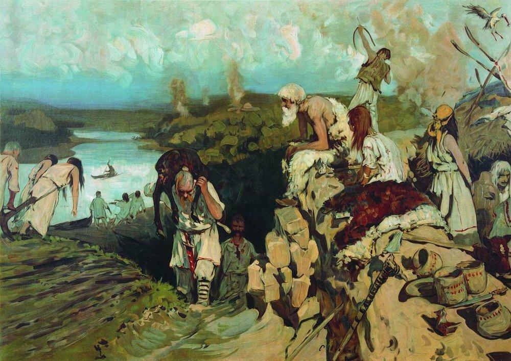 Восточные славяне: поляне,древляне,дреговичи,вятичи,кривичи,