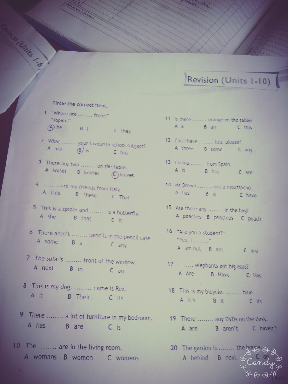 unit 4 aos 1 revision