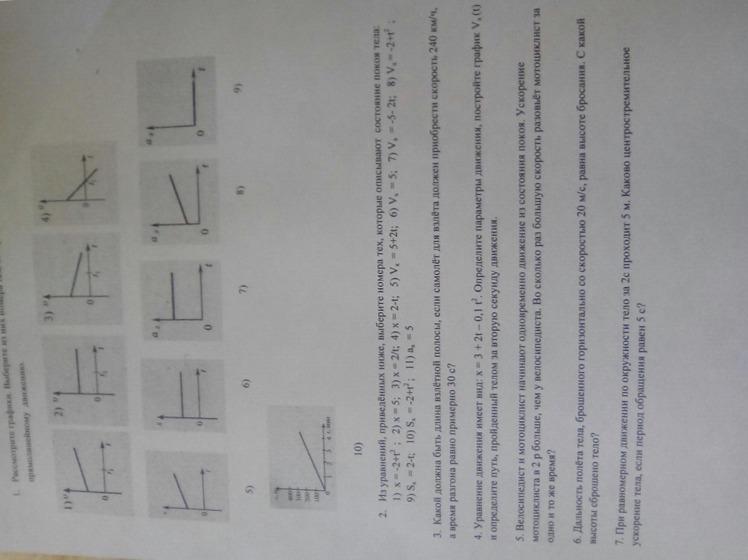 Контрольная работа по физике кл Кинематика СРОЧНО  Загрузить png