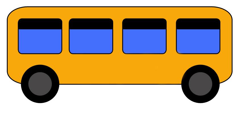 следует картинка автобус с флажками едет по улице нумерологии считается пифагор