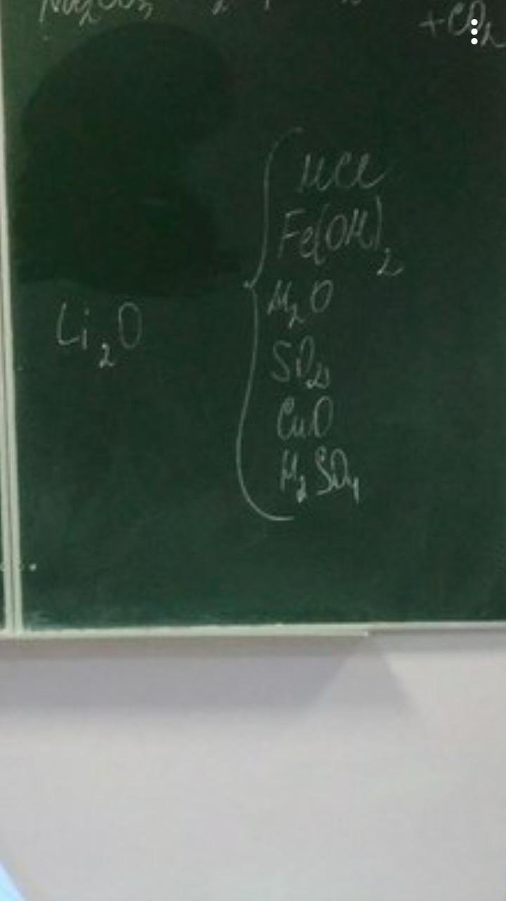 С какими из этих веществ идёт реакция у Li2o? Загрузить png
