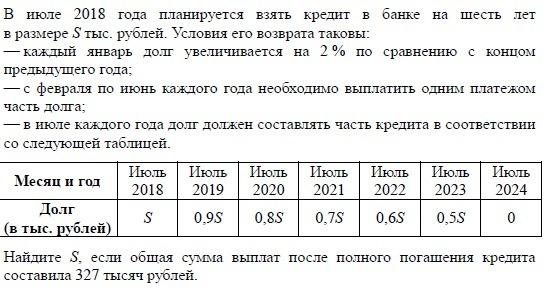 В июле планируется взять кредит