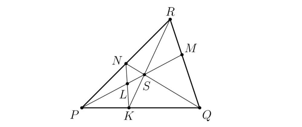 Дано NP=2RN и RM:MQ=1:8. Найдите нужные отношения.