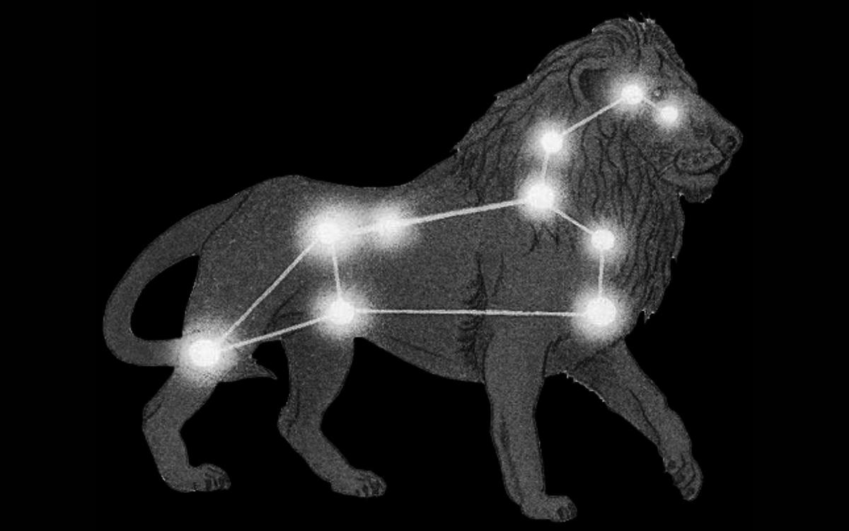 Скачать красивые бесплатные обои созвездие лев для рабочего стола, большие широкоформатные картинки созвездие лев на рабочий стол во весь экран - дом солнца.