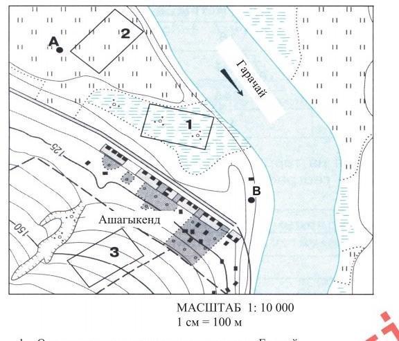 1)На каком берегу реки находятся пункты А и