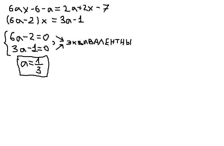 При каких значениях параметра а уравнение имеет