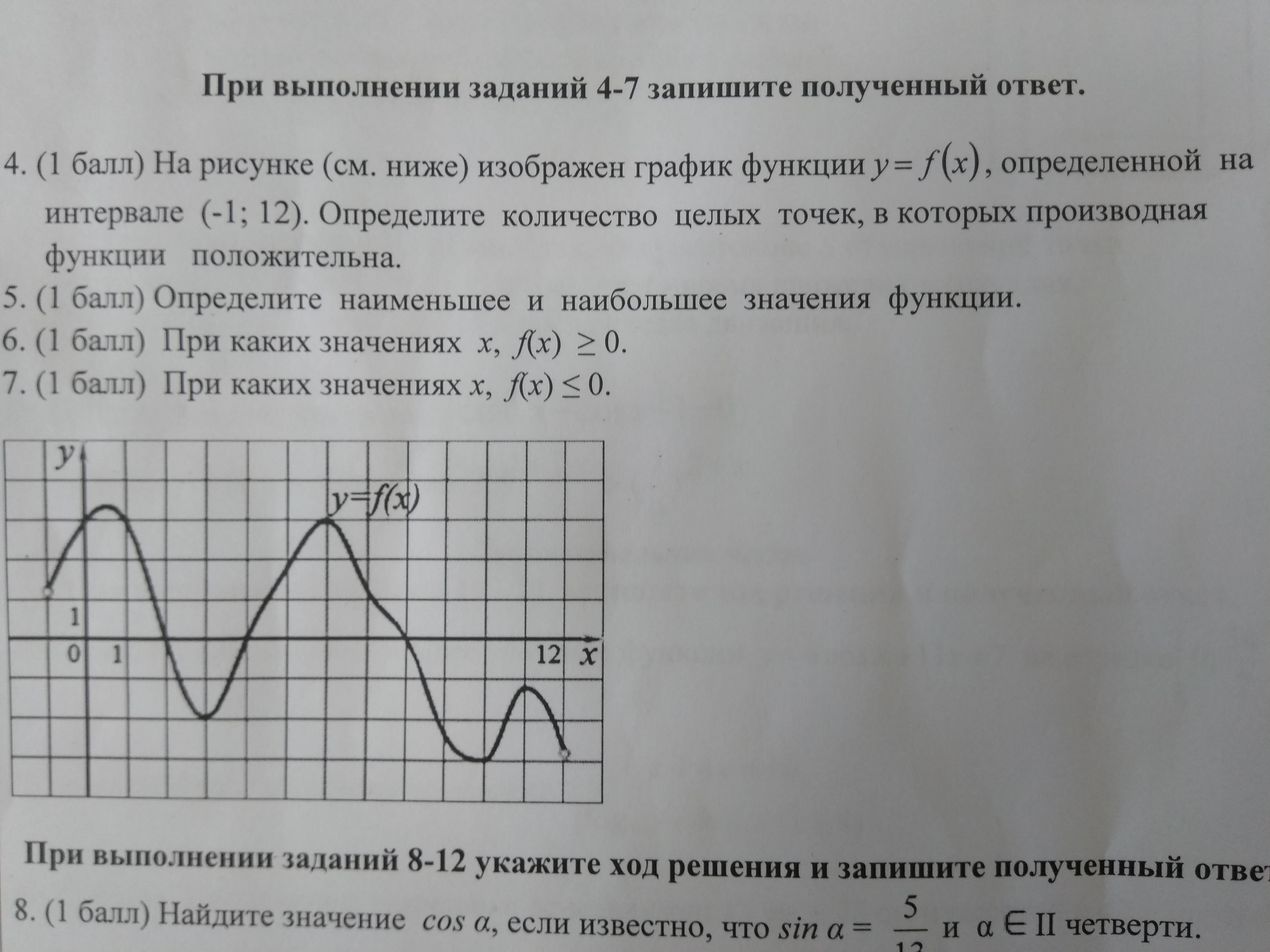 На рисунке изображен график функции y=f(x)...