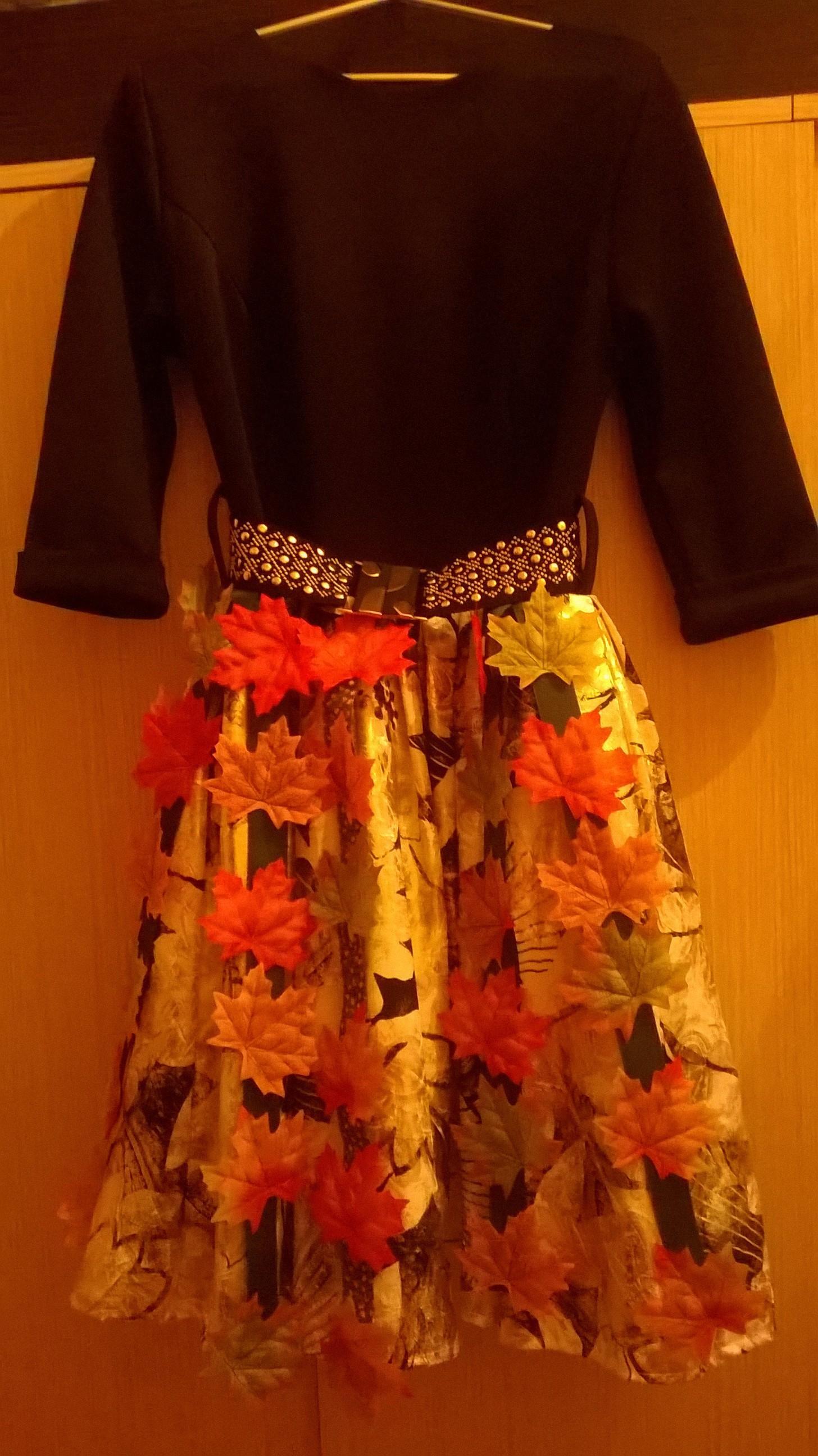 Платье для мисс осень с фото
