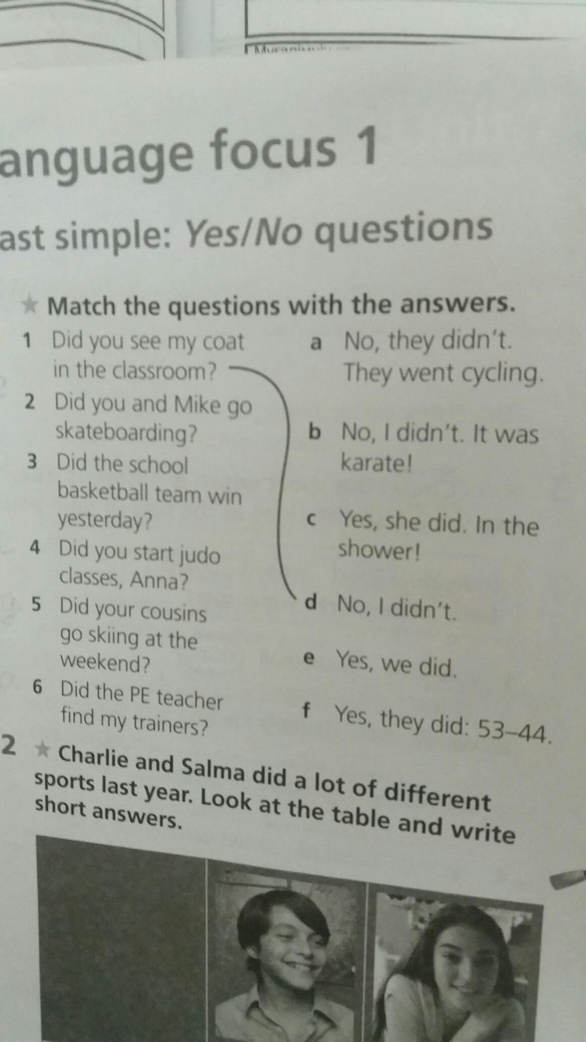 Past simple:Yes/No questions 