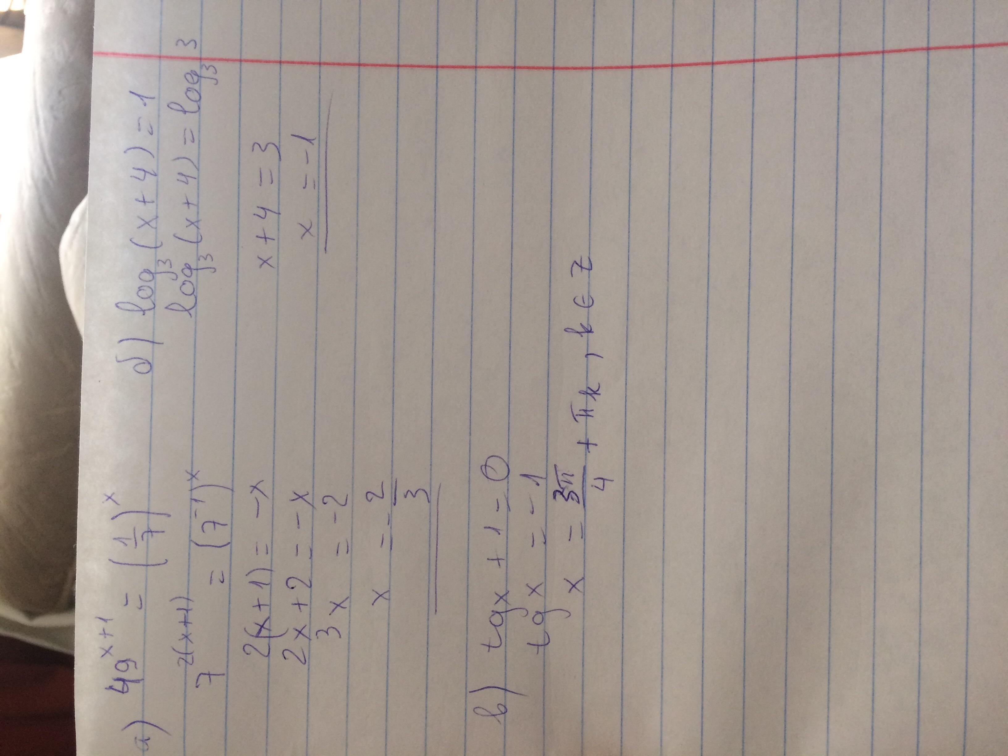Ответ: а) 2/3<br>б) -1<br>в) х = 3пи/4 + пи к
