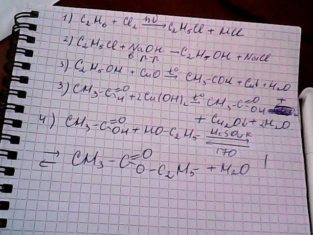 Реакция получения из этанола этаналя
