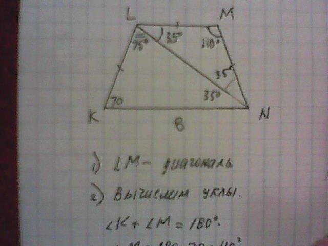 98 БАЛЛОВ. 9 класс...Длинное основание KN