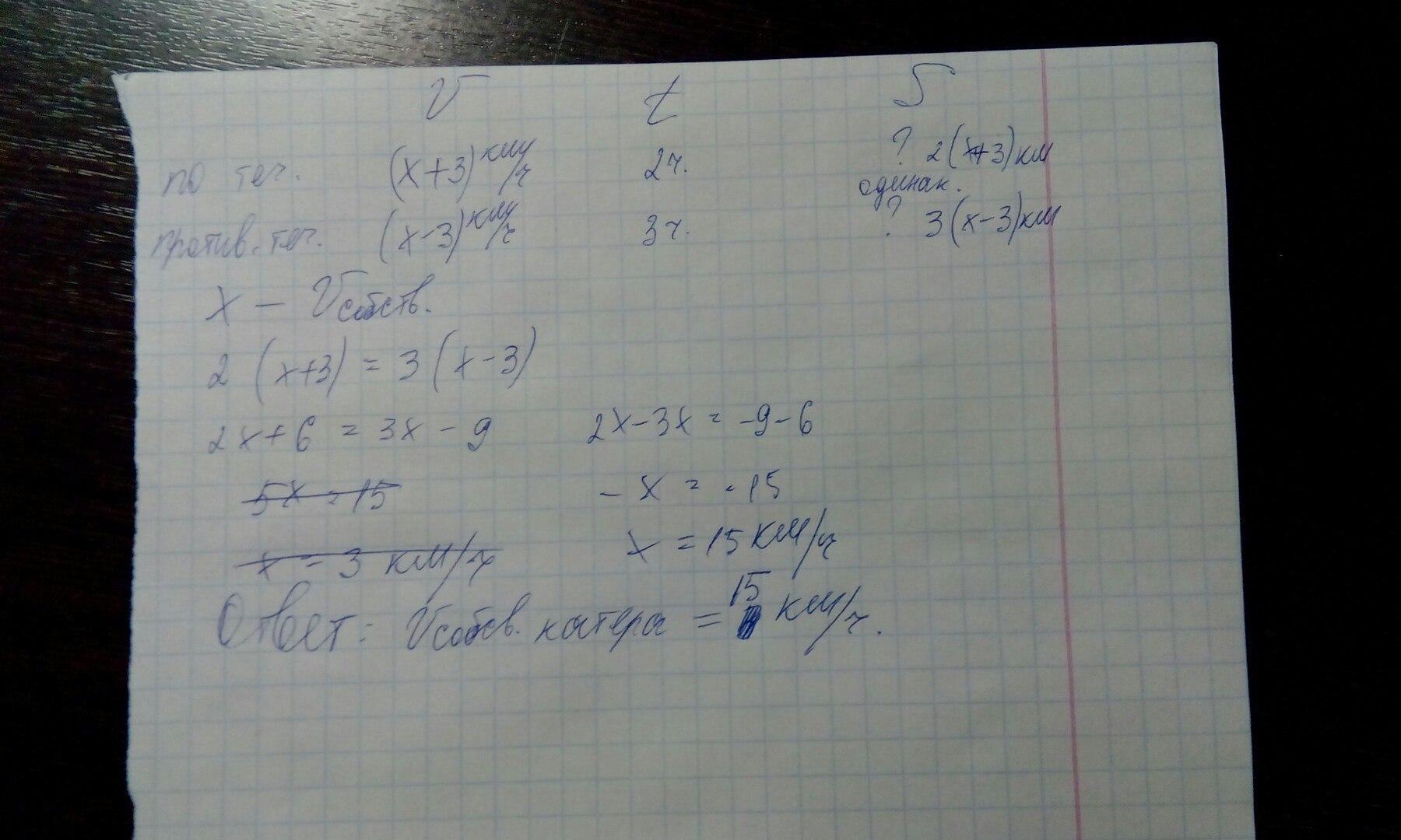 Решение задачи про катер и течение примеры решения задач по химии массовая доля
