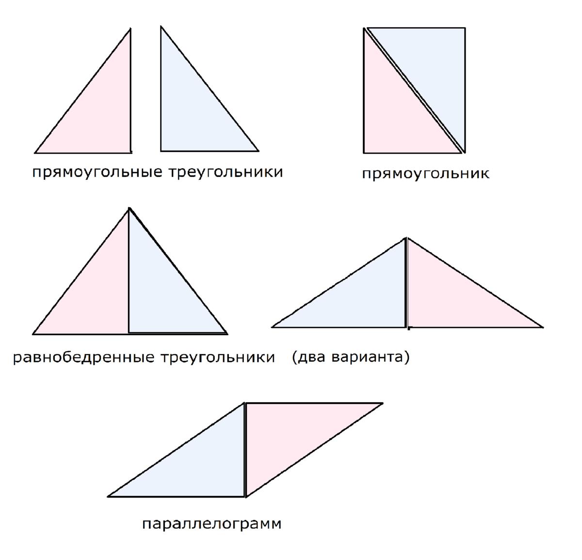Как из прямоугольника сделать треугольник фото 344