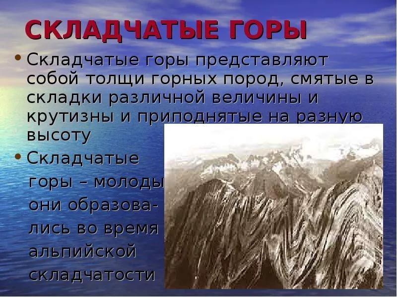 Схематический рисунок складчатых гор фото 316