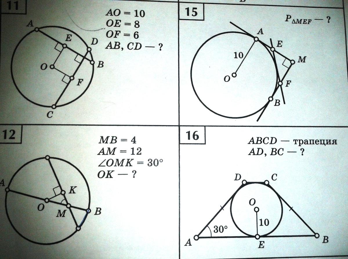 Решение задач на окружность и касательную построить и решить двойственную задачу линейного программирования