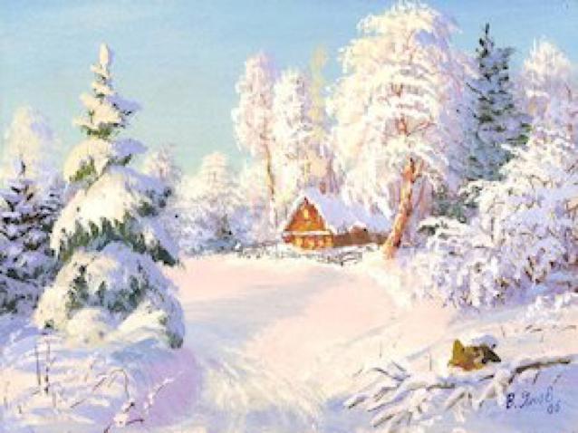 А чём Зимнее утро стихотворение