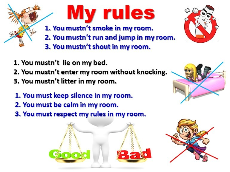 My room rules make a poster write what people must mustn 39 t for Make my room