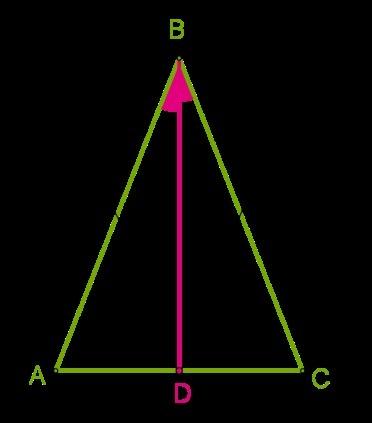 В равнобедренном треугольнике с длиной основания