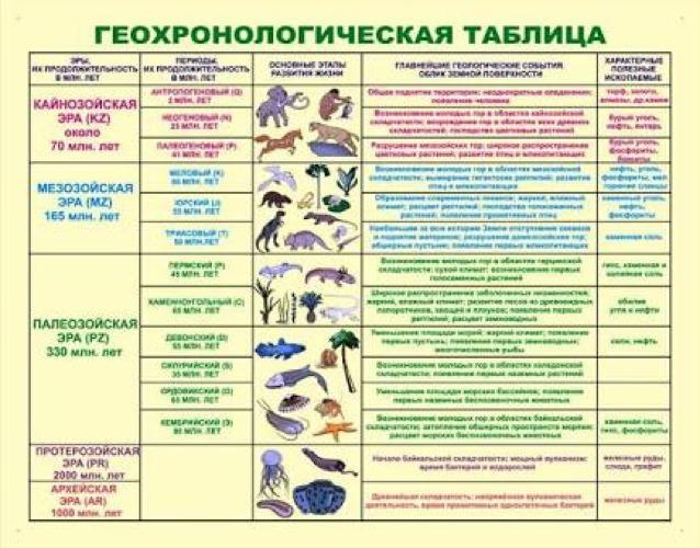 География 8 класс раковская таблица
