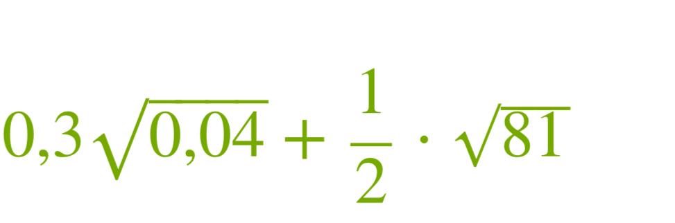 Найди 0,30,04‾‾‾‾√+12⋅81‾‾‾√