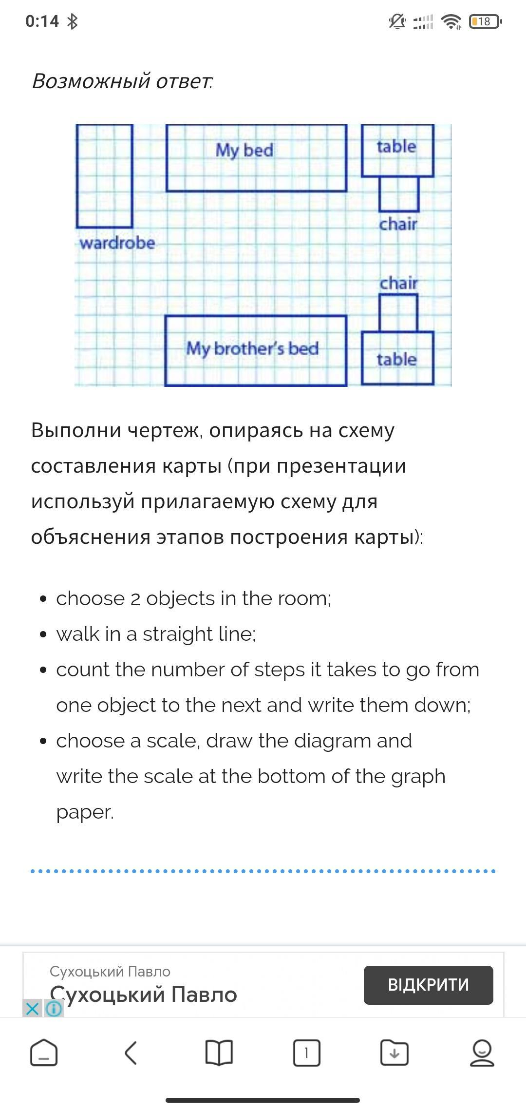 Project Use The Information In The Text To Draw A Scaled Map Of Your Room Present It To Shkolnye Znaniya Com