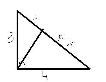 - В прямоугольном треугольнике катеты равны 3 и 4