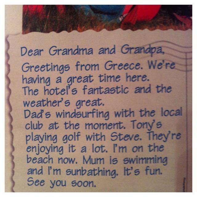 Книга, записка открытка другу на английском языке