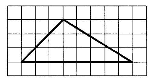 На клетчатой бумаге с размером клетки 1x1 изображен треугольник найти площадь. Загрузить png