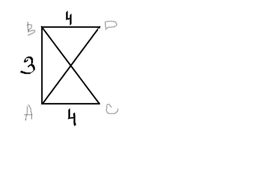В равных прямоугольных треугольниках ABC и ABD