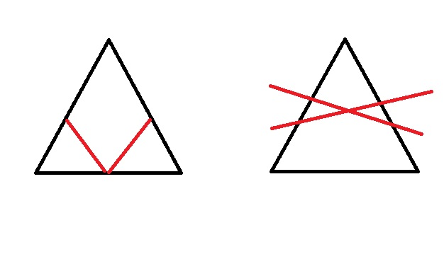 Как сделать из 2 треугольников четырехугольник