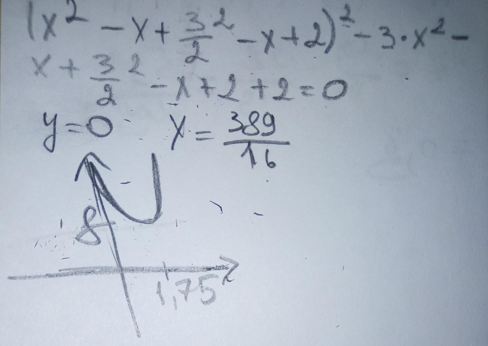 (x^2-x+3/2x^2-x+2)^2 -3•x^2-x+3/2x^2-x+2 +2=0