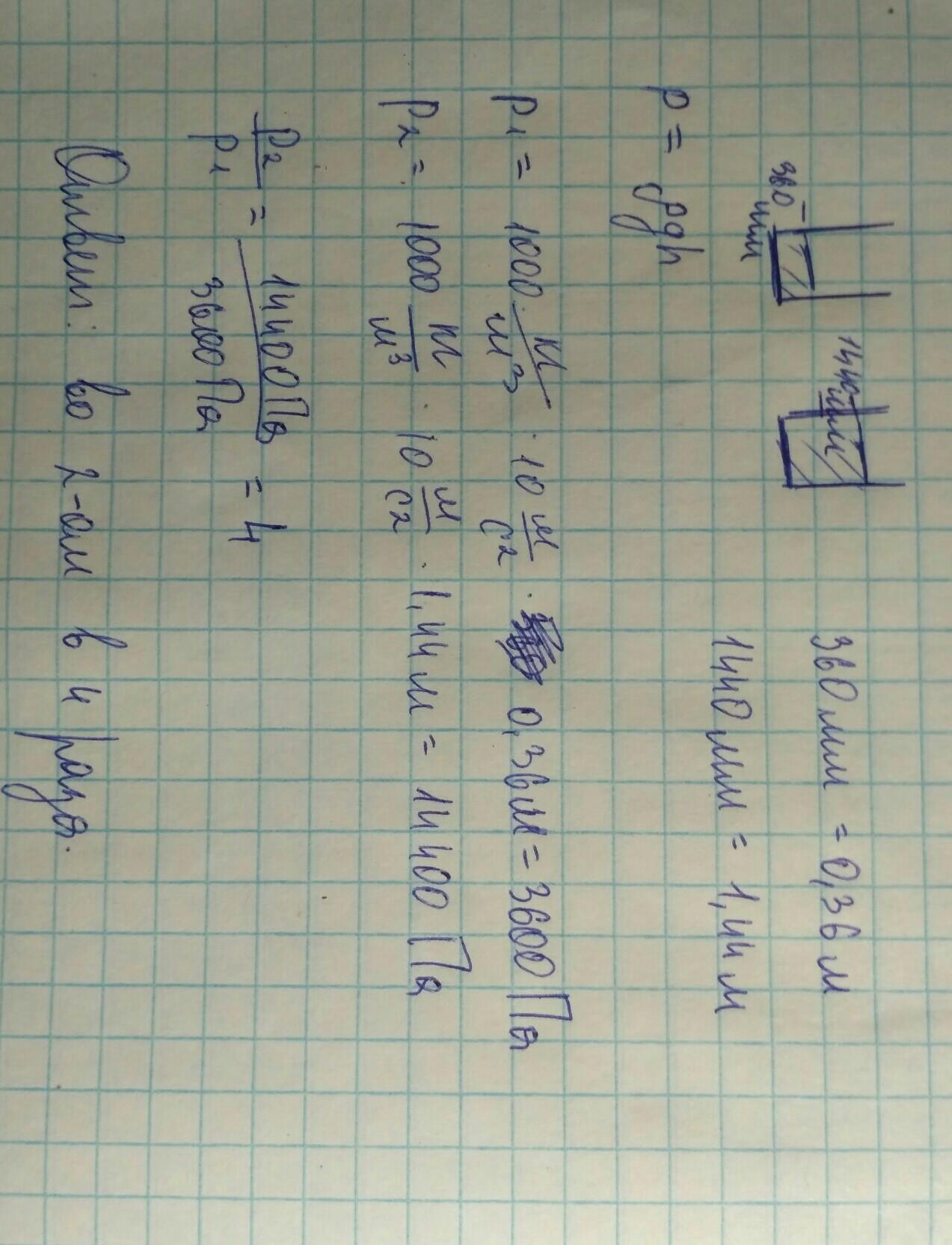 30 баллов Сосуды с водой имеют равные площади дна.
