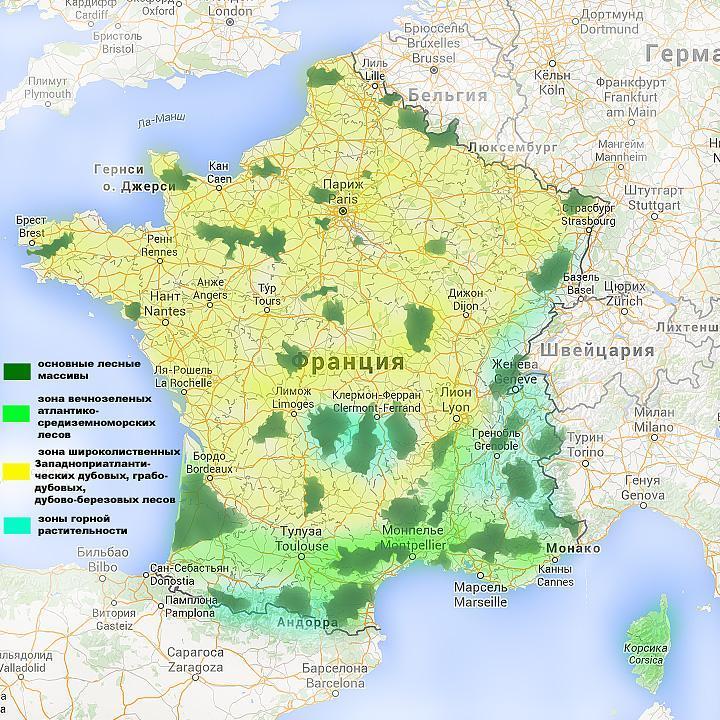 Климат Франции - Франция от А до ЯФранция от А до Я | 720x720